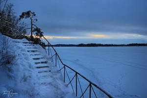 Snowy Stairs by Pajunen