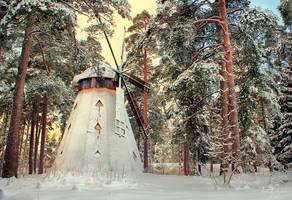Frozen Windmill by Pajunen