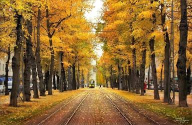 Autumn in Helsinki by Pajunen