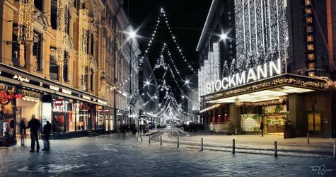 Helsinki in January by Pajunen