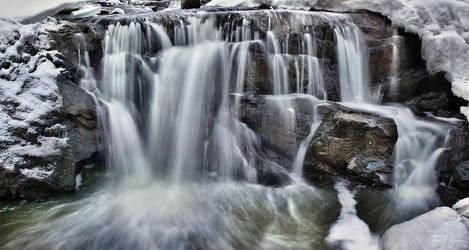 Winter Waterfall by Pajunen