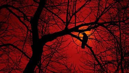 Crow Tree Silhouette II by Pajunen