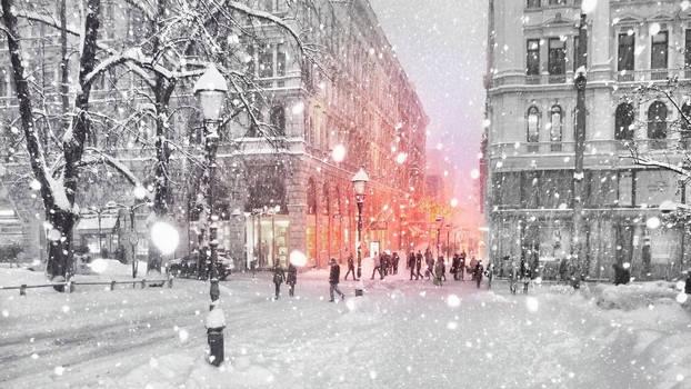 Winter in Helsinki II by Pajunen