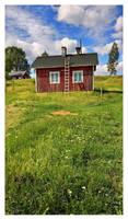 Old summer hut by Pajunen