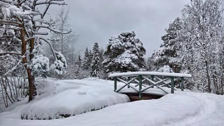 Snowy Bridge by Pajunen