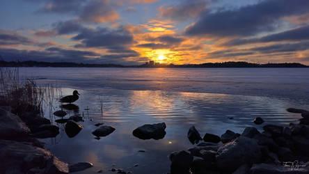 January sunset II by Pajunen
