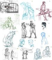 Fallout 3 - Sketch Dump by psycrowe