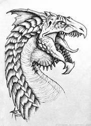 Inktober 2016 - White Dragon by psycrowe