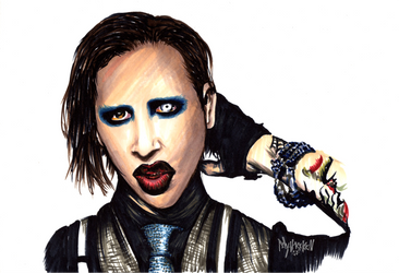 Marilyn Manson WIP by Mythokell