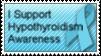 Hypothyroidism Awareness Stamp by CaressHeartnet