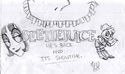 He's Back- Logo Sketch by x-Lydia-Deetz-x