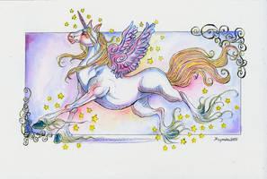Rainbow Unicorn by kamarza