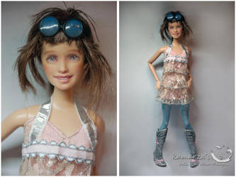 Barbie Fashionistas OOAK Repaint by kamarza