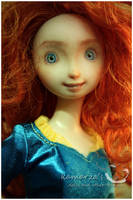Mattel Merida OOAK repaint by kamarza
