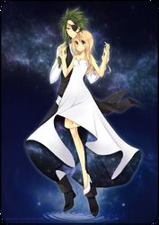 NYE: SaiyaGina by Karousel-k