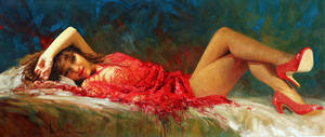 'Shoes' Oil by Robert Hagan by robert-hagan