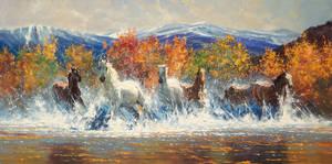 'Last Autumn' 30 x 60 - Robert Hagan by robert-hagan