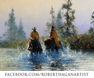 'Long day Over' Oil on Canvas - Robert Hagan by robert-hagan