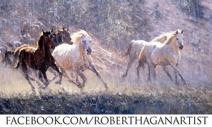 'Stampede' - Oil on Canvas by Robert Hagan by robert-hagan