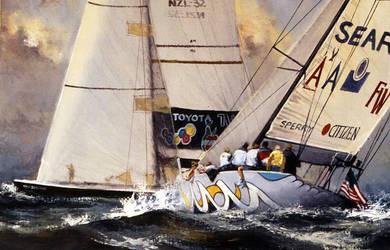 'Overtaking' - Oil on Canvas By Robert Hagan by robert-hagan