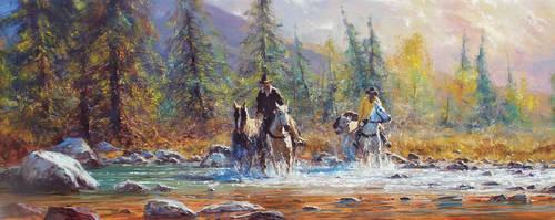 'Crossing' - Oil on Canvas By Robert Hagan by robert-hagan