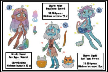 Adoptables (BID) - Star Dust Collectors (Discount) by THE-UNIVERSE-IS-OVER