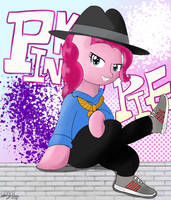Pinkie the Rapper by LinLaiFeng
