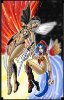 Elemental Knights of Shenkarra by LoreliAoD