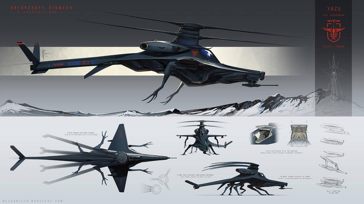 Rotorcraft Biomech - Yazu by Hydrothrax
