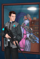 Connor and Widowmaker by RaphaelBarker