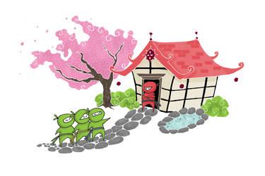 Ninjas and some sakura by Moreanar