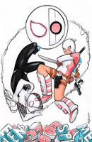 Gwen Fight by MaryLuellyn