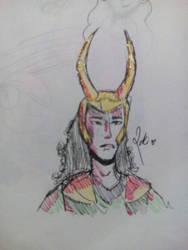 Loki doodle by HootsTheOwls