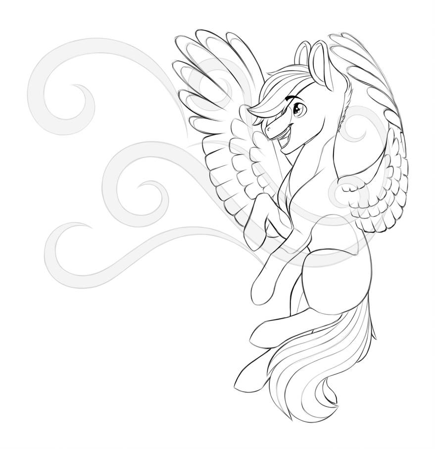 Windy Wings (sketch) by XioBomb