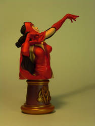 Scarlet Witch Bust - Three Quarter Front View by DaVinci41