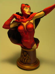 Scarlet Witch Bust - Close-Up Front View by DaVinci41