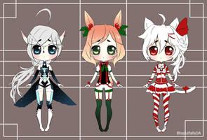 Humanoid Adopts Christmas Batch 1 by BlissfulFalls