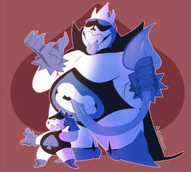 Deltarune - Lancer and The King by AzulBun