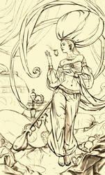 Fairy of Oriental Star WIP001 by EldarZakirov