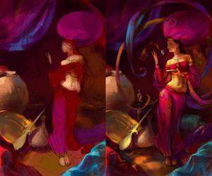 Fairy of Oriental Star WIP002 by EldarZakirov