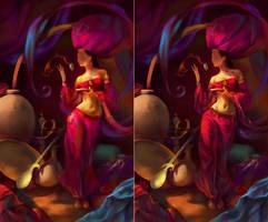 Fairy of Oriental Star WIP003 by EldarZakirov