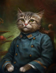 The Hermitage Court Confectioner Apprentice Cat by EldarZakirov