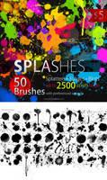 50 HQ Splatter Photoshop Brushes by EldarZakirov