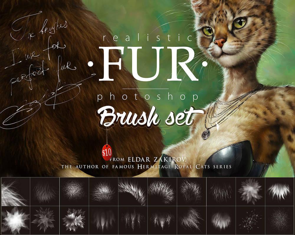 Realistic FUR Brush Set for Photoshop by EldarZakirov