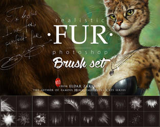 Realistic FUR Brush Set for Photoshop by EldarZakirov