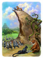 Mowgli Illustrations for the Dreamsland book by EldarZakirov