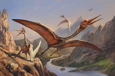 Quetzalcoatlus by EldarZakirov