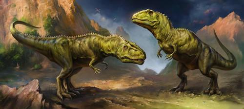 Giganotosaurus by EldarZakirov