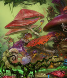 Magic Forest game. Game board. Fragment 2 by EldarZakirov