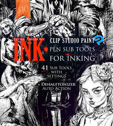 INK. 41 Sub Tools for Inking. First Month SALE! by EldarZakirov